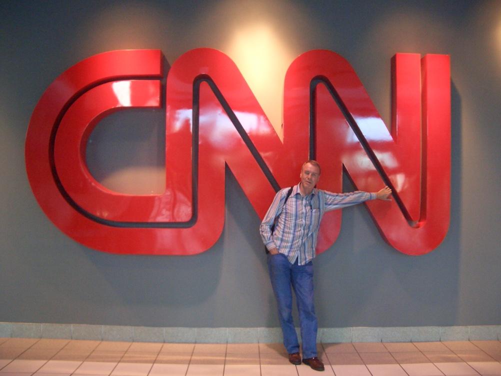 Graham with the CNN branding