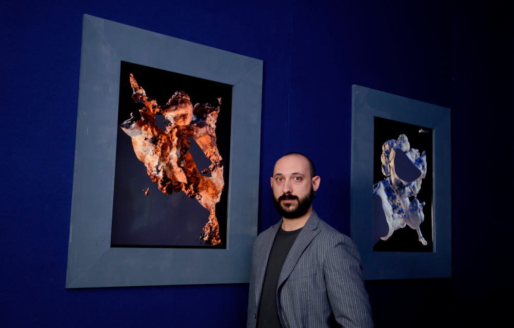 Quayola with his work at The House of Peroni