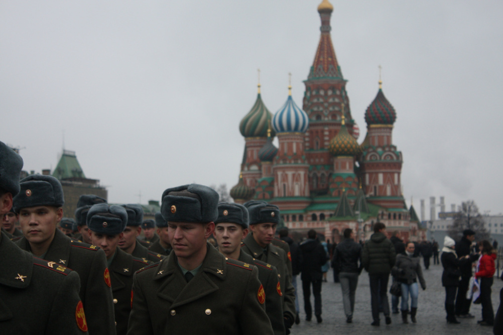 Soldiers on Moscow's Red Square