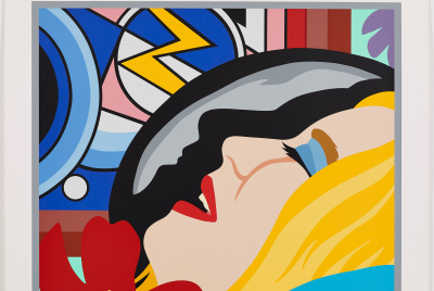 Bedroom Face with Lichtenstein, 1996