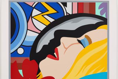 Bedroom Face with Lichtenstein, 1996