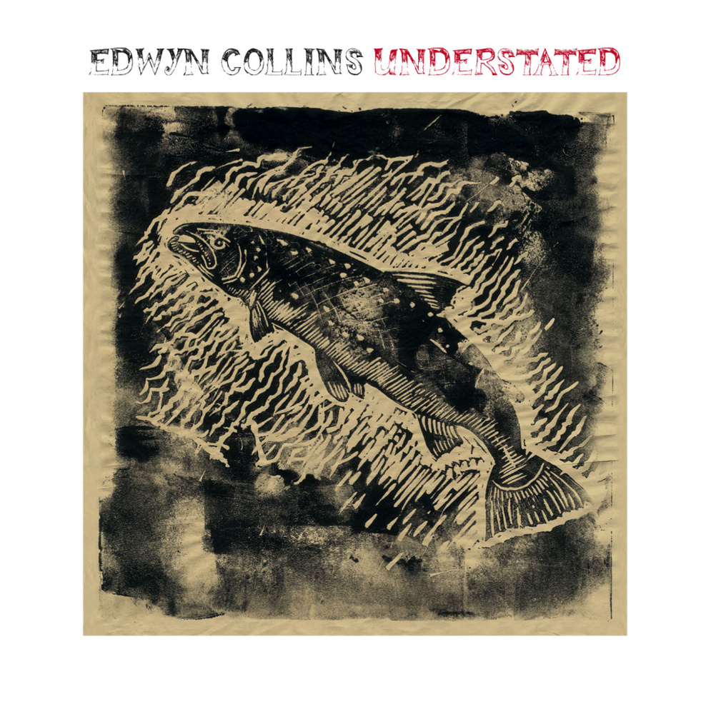 Edwyn Collins - Understated - Illustrations, linocut and title typeface by Edwyn Collins. Back cover photograph by Hedi Slimane. Design by Rob Crane