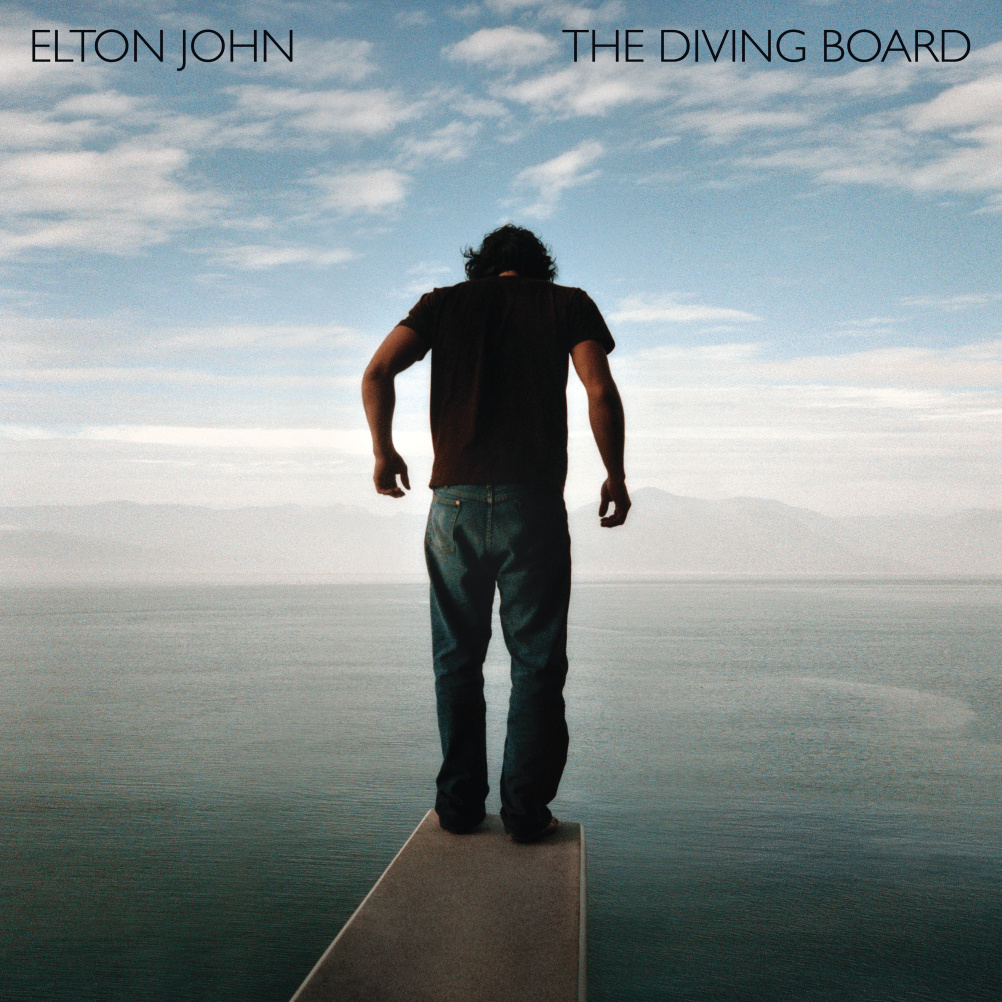 Elton John - The Diving Board - Art direction and design by Mat Maitland at Big Active. Creative director for Elton John - Tony King. Photography by Tim Barber