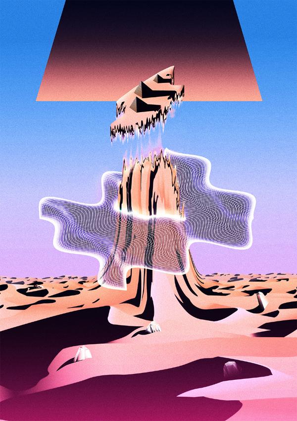 Floating pyramids by Joeseph Melhuish