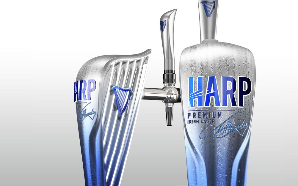 Harp fount
