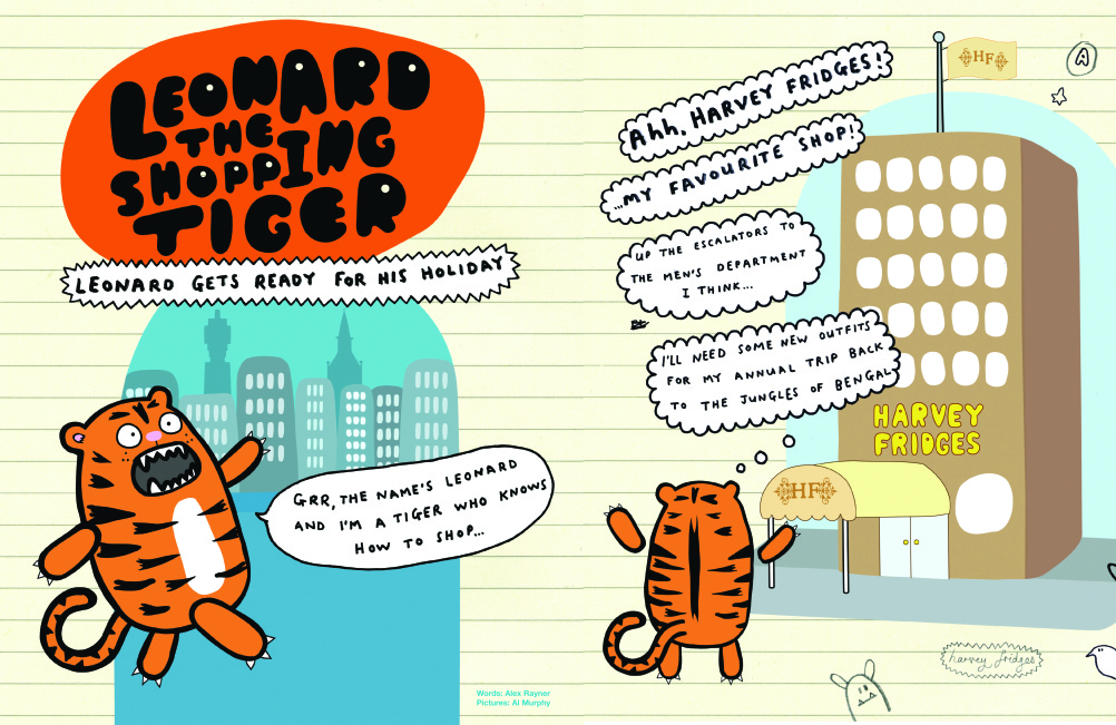 Leonard the Shopping Tiger.
