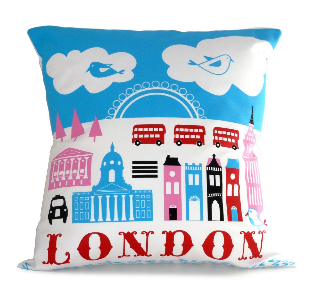 Michelle Mason, London cushion