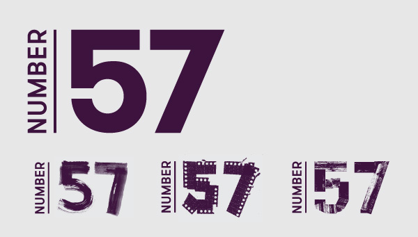 Number 57 logos
