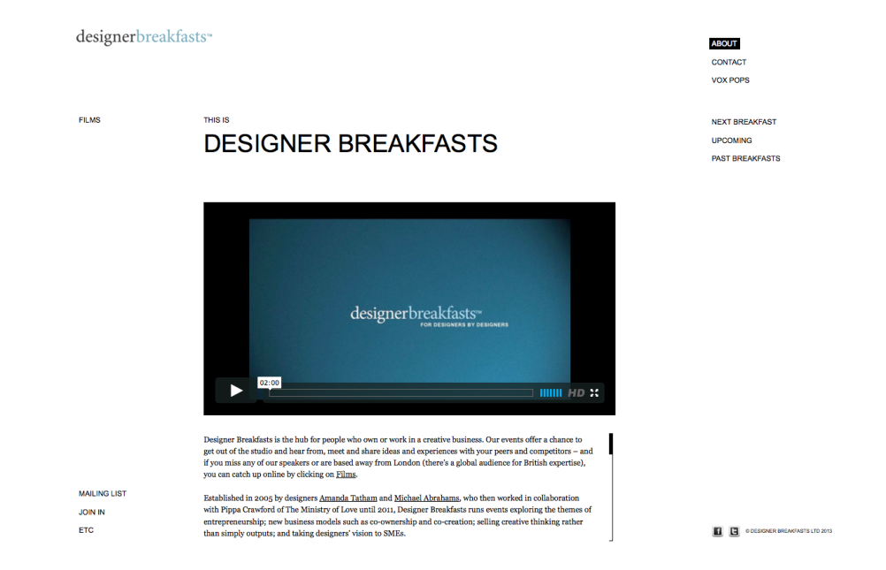 Designer Breakfasts