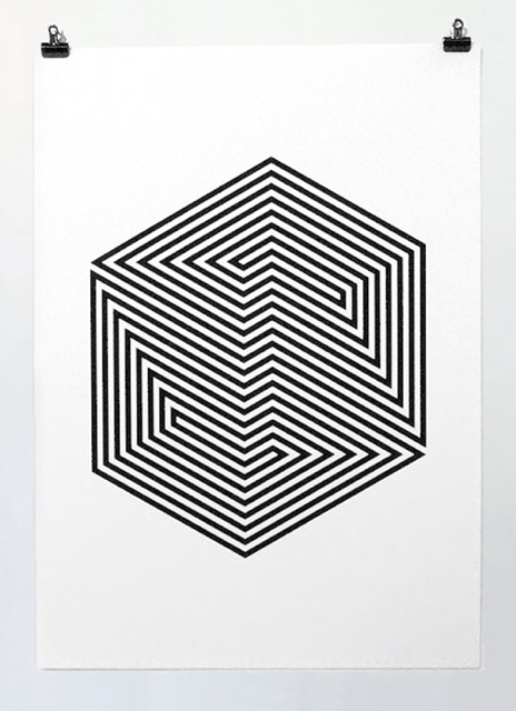 Screen print by Yann Brien