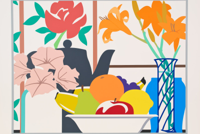 Tom Wesselmann, Still Life with Lilies, Petunias and Fruit, 1988