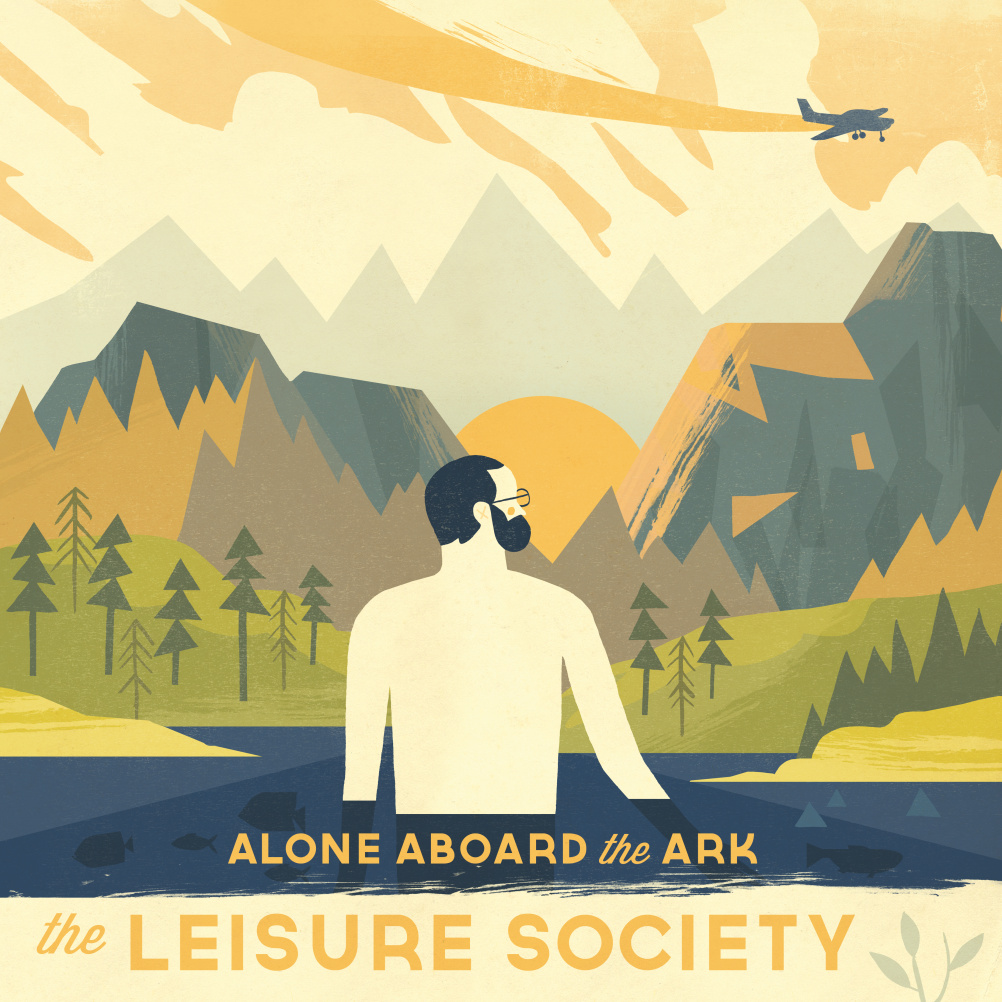 The Leisure Society - Alone Aboard the Arc - Design by Owen Davey
