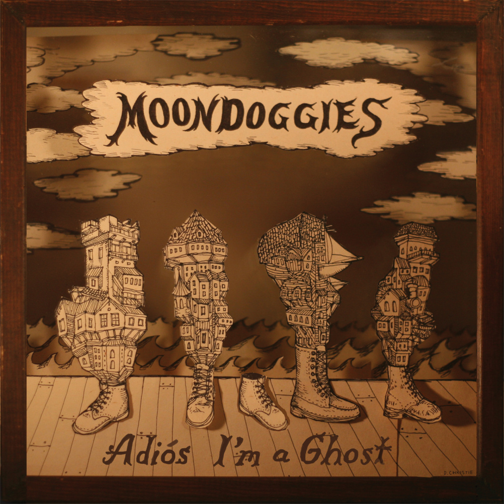 Moondoggies - Adios I'm a Ghost - Design by Drew Christie