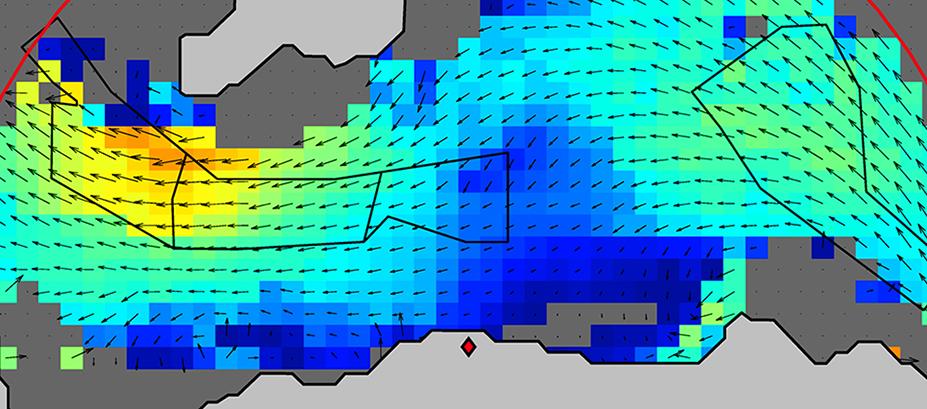 A tidal chart