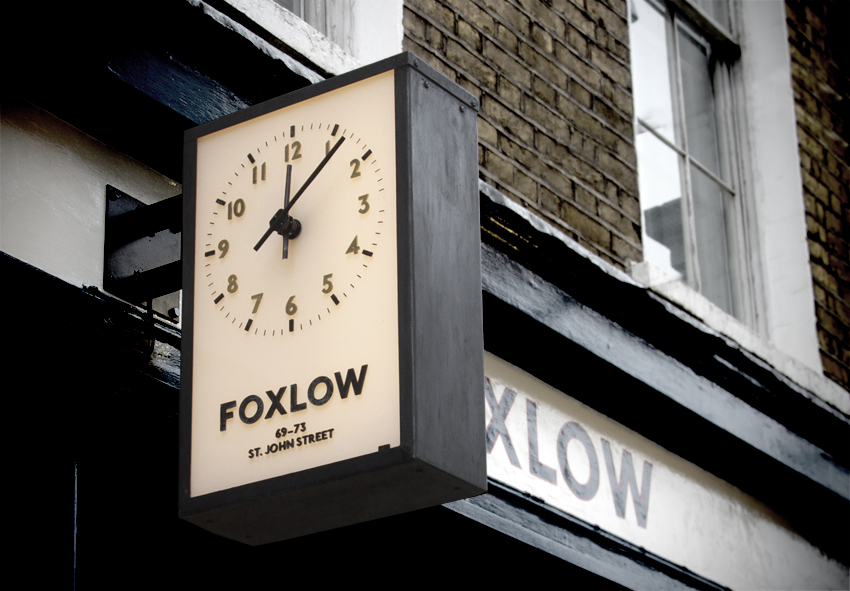 The new Foxlow clock