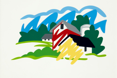 Tom Wesselmann, House and Barn in Distance, 1991