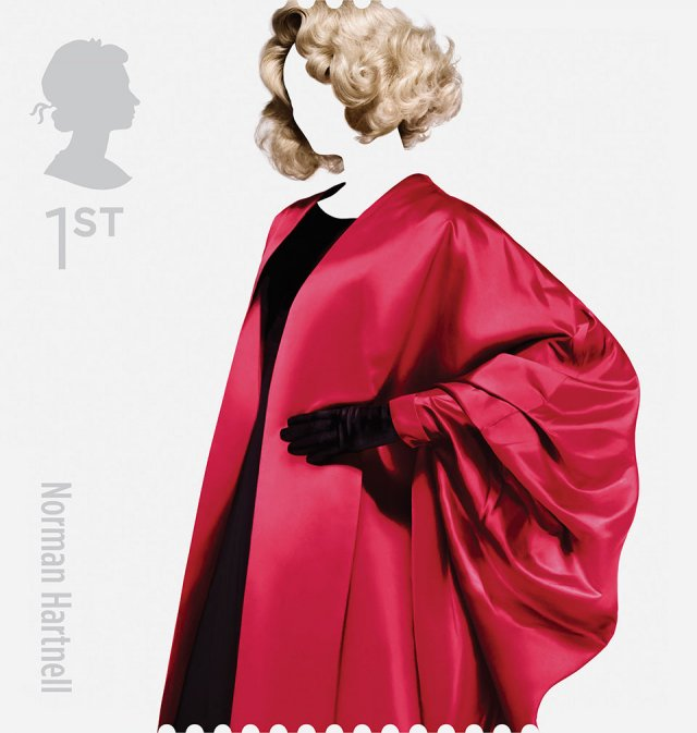 Great British Fashion Stamp Set by Johnson Banks for Royal Mail: graphics design