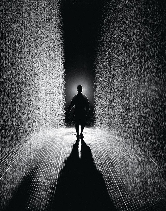 Rain Room for Barbian Centre by Random International: spatial design