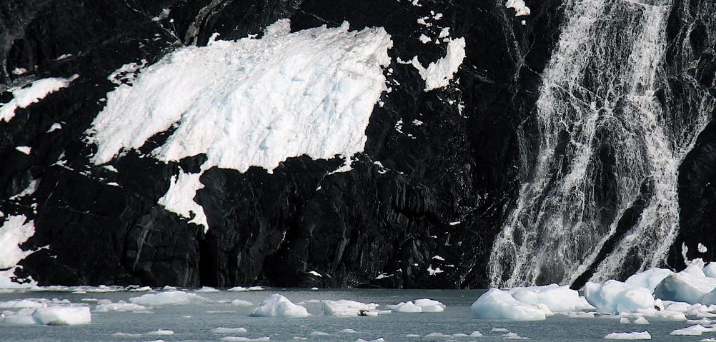 Base of Blackstone glacier, Alaska