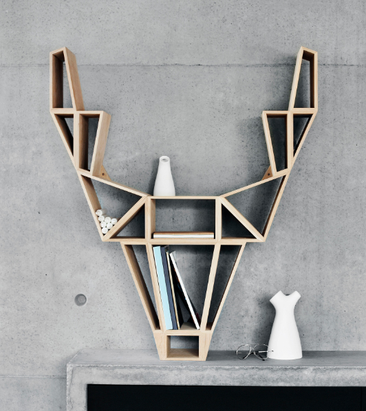 Clippings.com deer shelf by BEDesign