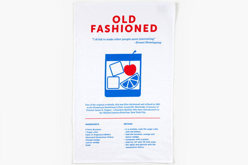 Crispin Finn Old Fashioned tea towel
