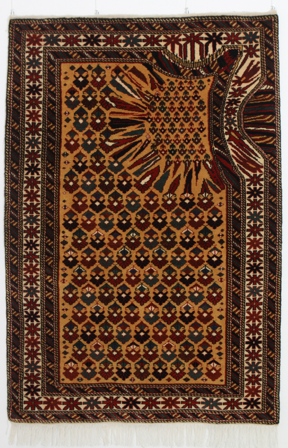 Faig Ahmed, Hollow 2011, (Wool warp, weft and pile)