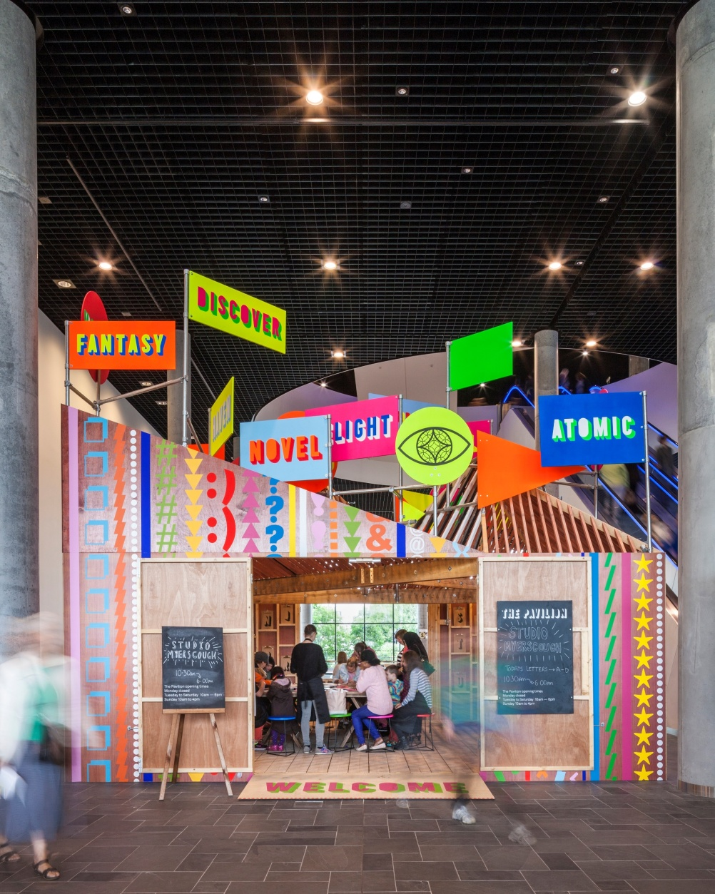 Morag Myerscough's Pavilion at the Library of Birmingham