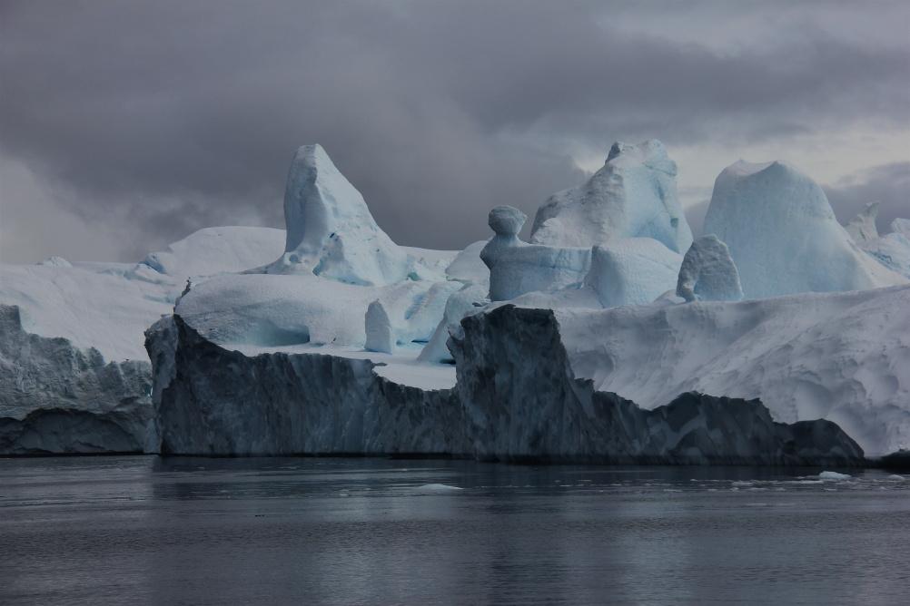 From Sermeq Kujalleq glacier