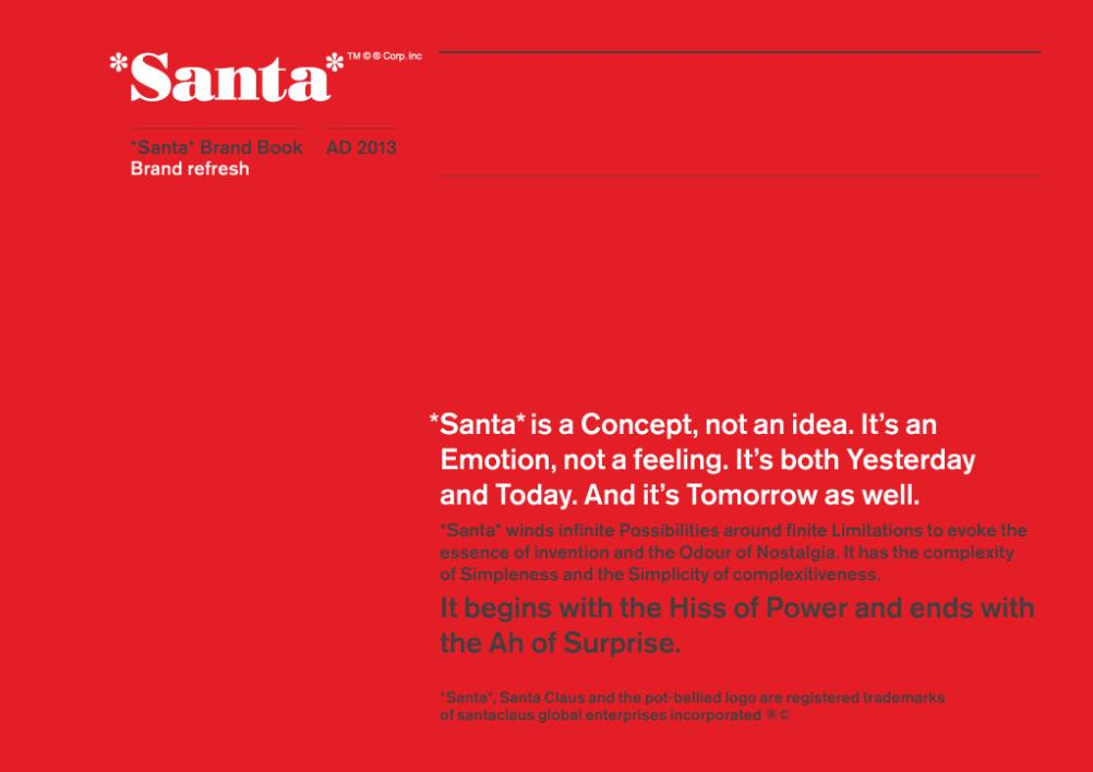 Santa brand guidelines