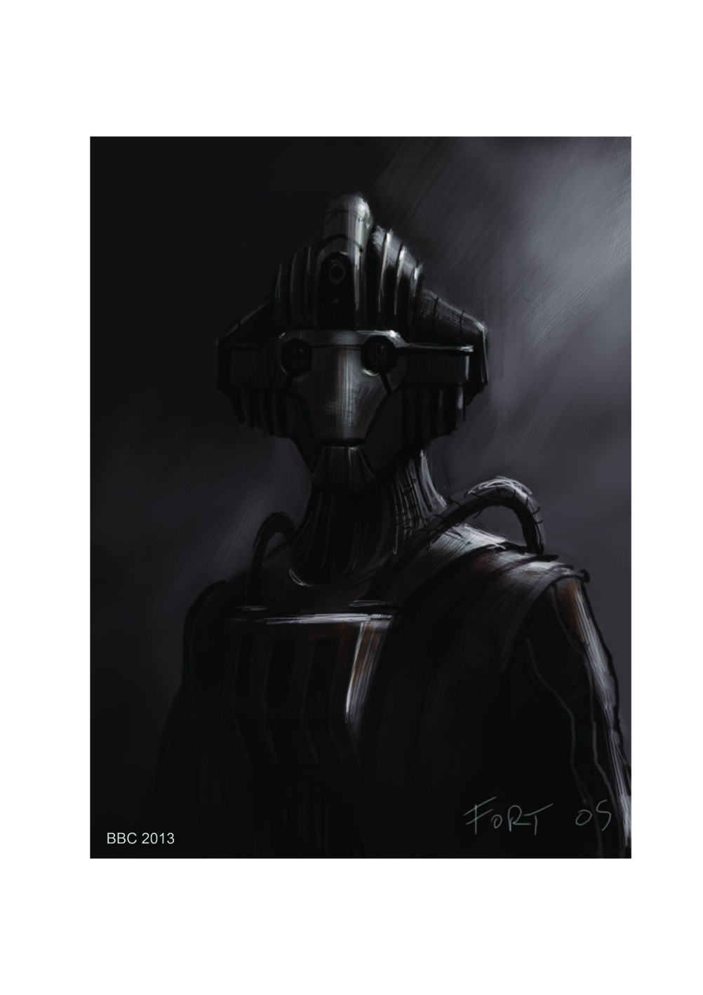 Cyberman by Alexander Fort, a concept artist who has worked on Dr Who and Game of Thrones