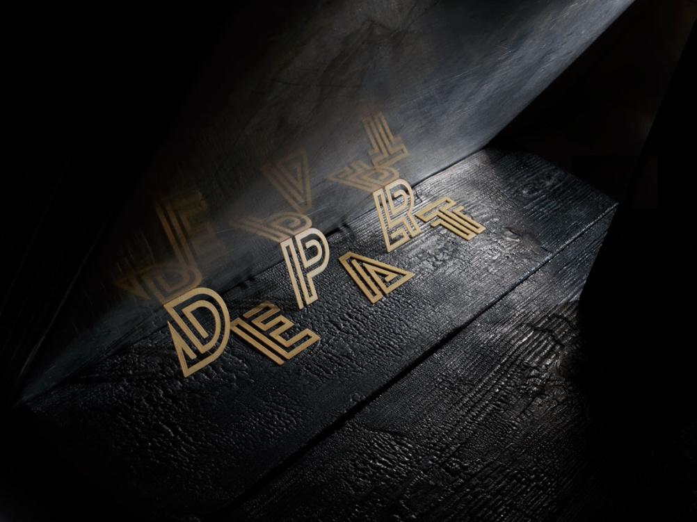 'Depart' pasta letters