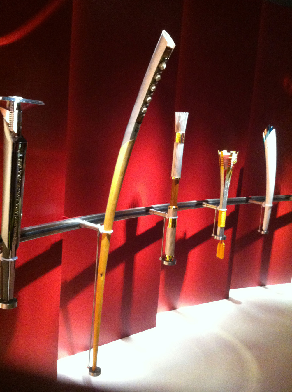 The Lillehammer torch dwarfs the others on display