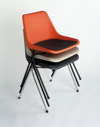 Chair Mark II by Robin Day, who studied furniture design in High Wycombe