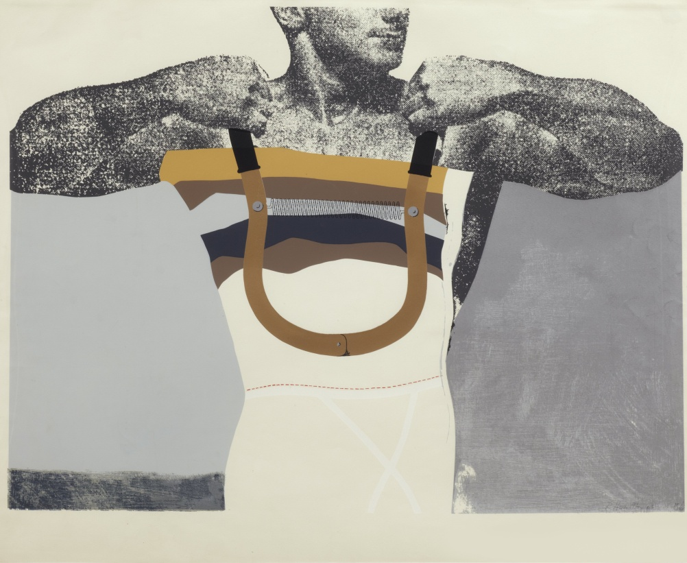 Adonis in Y fronts 1963 Screenprint from 12 stencils on cartridge paper  Paper 68.5 x 84.0 cm; Image 60.6 x 81.5 cm Printed at Kelpra Studio, London Edition 40 + printer's proofs Published by the artist