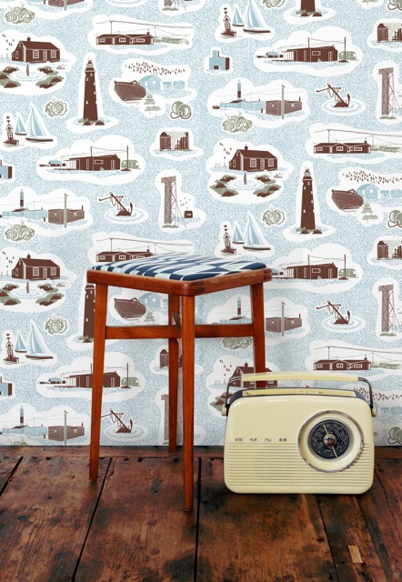 Dungeness Wallpaper by Mini Moderns