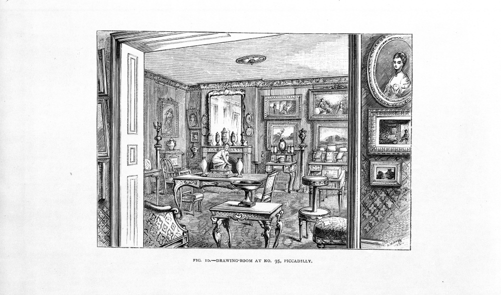 Fig.10 From The Handbook of The Jones Collection in The South Kensington Museum; Drawing Room at 95 Piccadilly, R.Clay and Sons, 1883. English