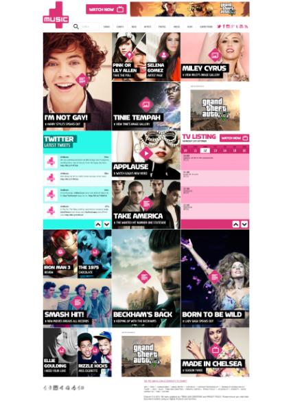 Homepage screen grab