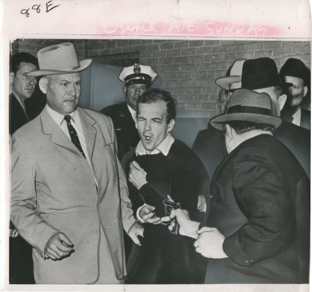 Jack Ruby Shoots Lee Harvey Oswald to Death, Dallas by Robert H. Jackson
