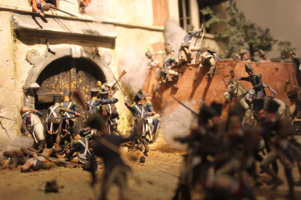 Battle of Waterloo model