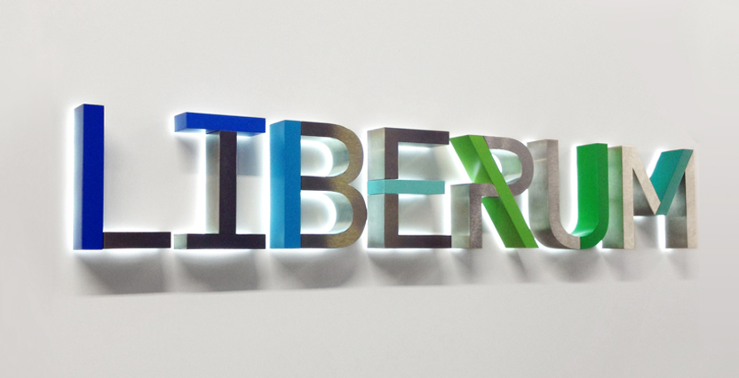 Liberum reception signage