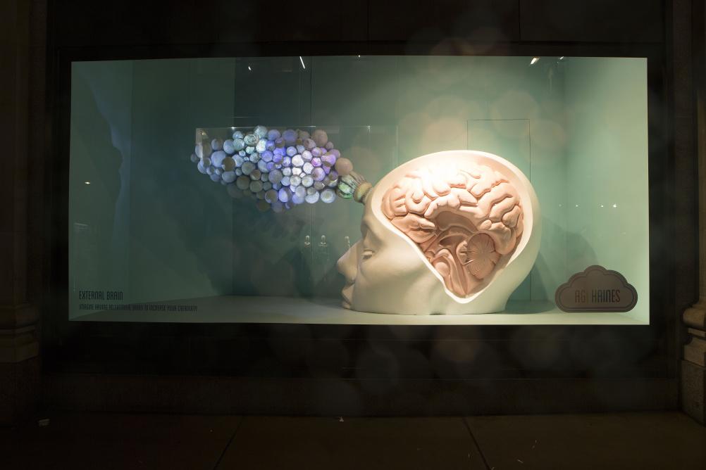 Window display by Agi Haines