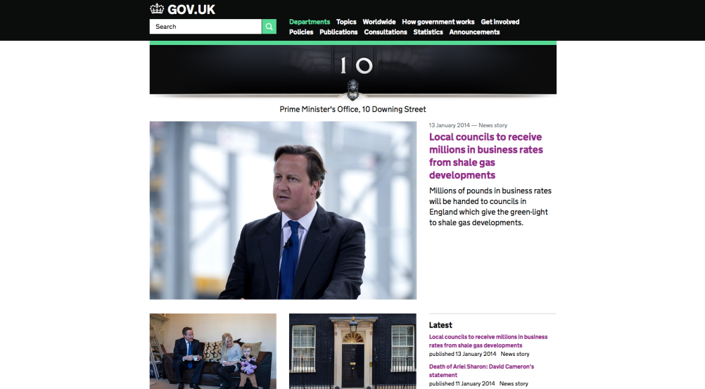 Website of the Prime Minister's Office