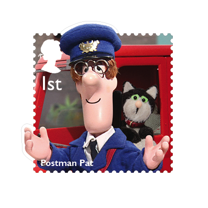 Postman Pat and cat Jess were introduced in 1981