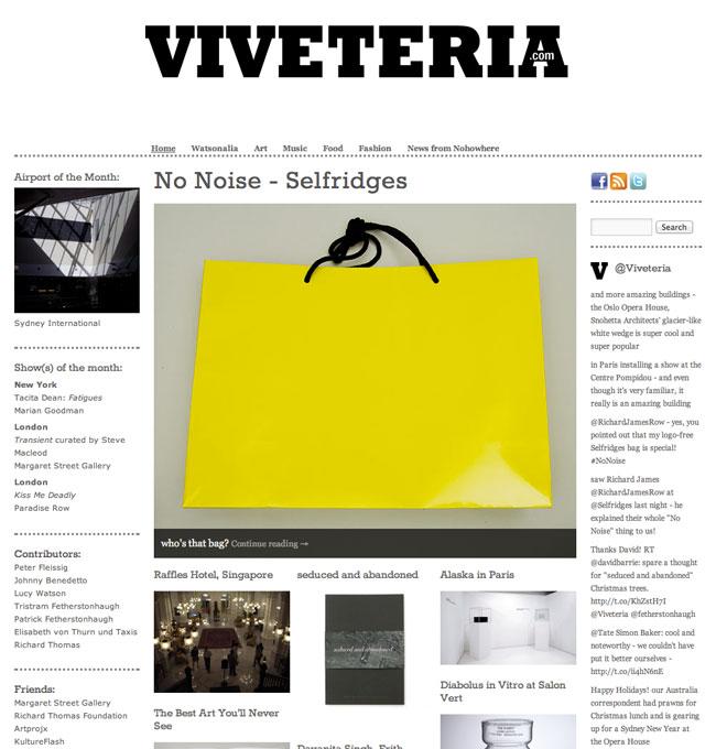 Viveteria for Selfridge's