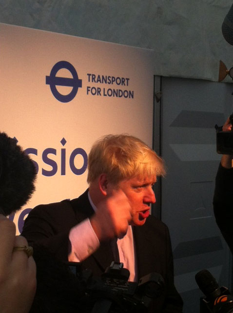 London Mayor Boris Johnson at the unveiling