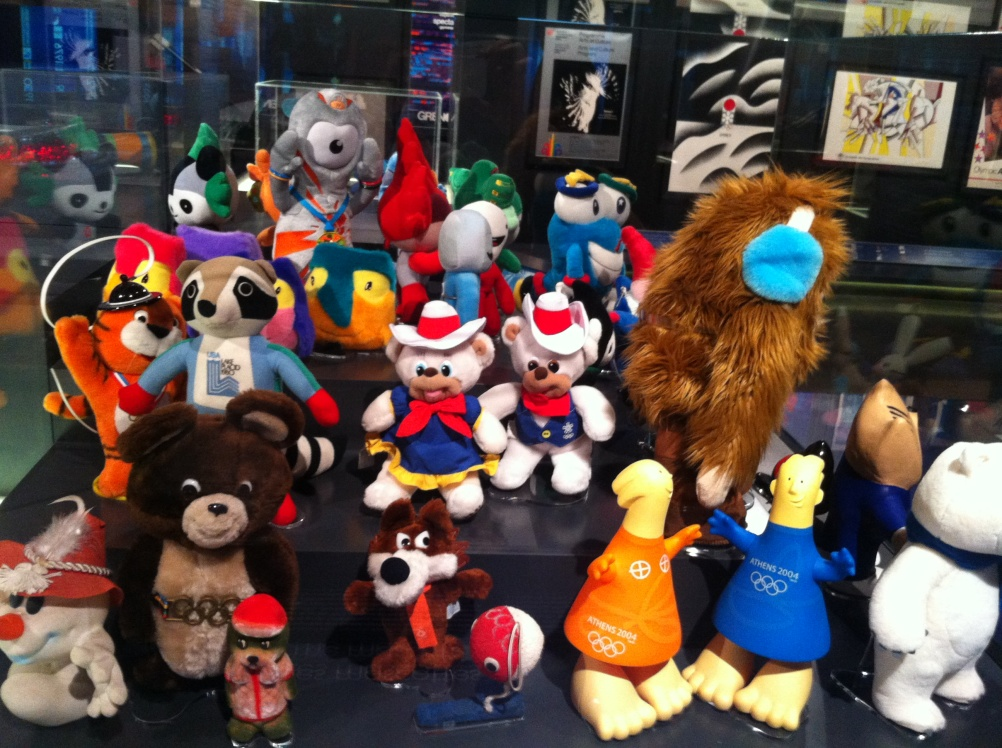 Olympics Mascots on display at the museum