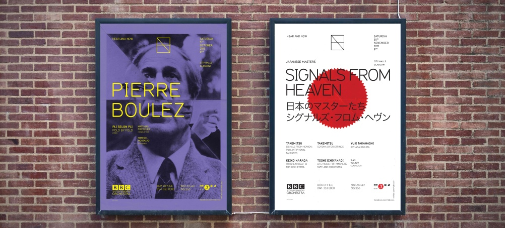 Poster campaign for BBC SSO Hear and Now season