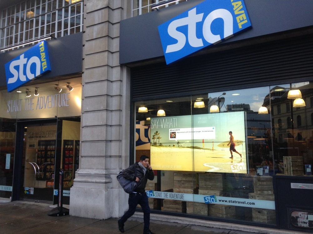 STA exterior Twitter wall