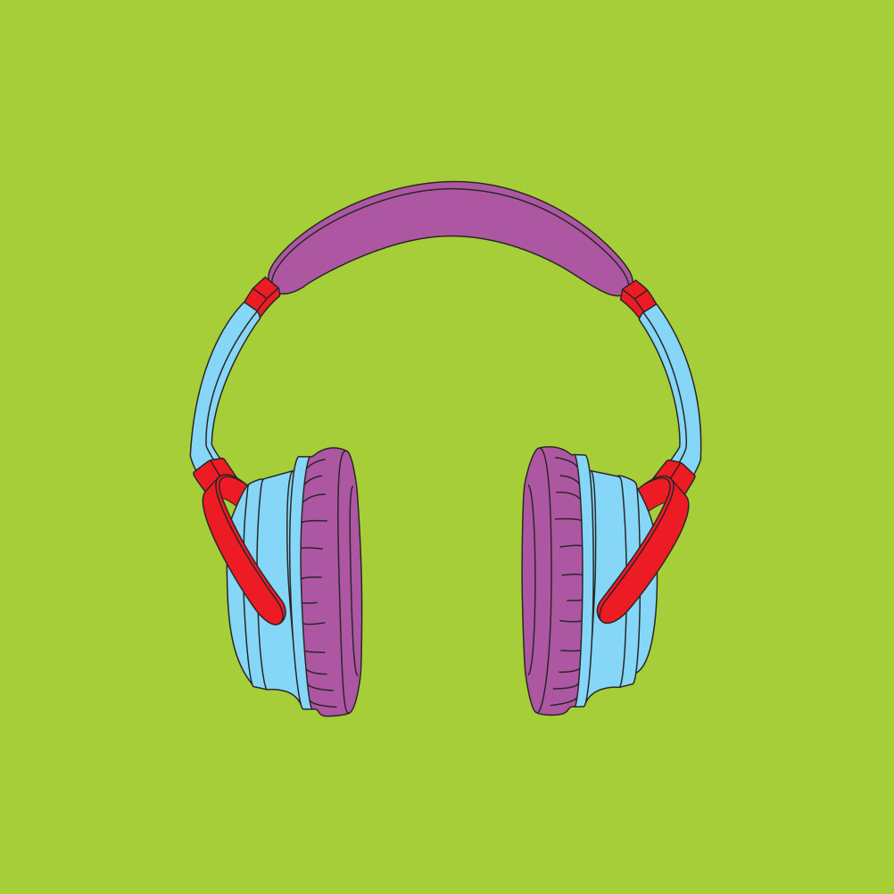 Michael Craig-Martin, Objects of our Time - Noise Cancelling Headphones, 2014