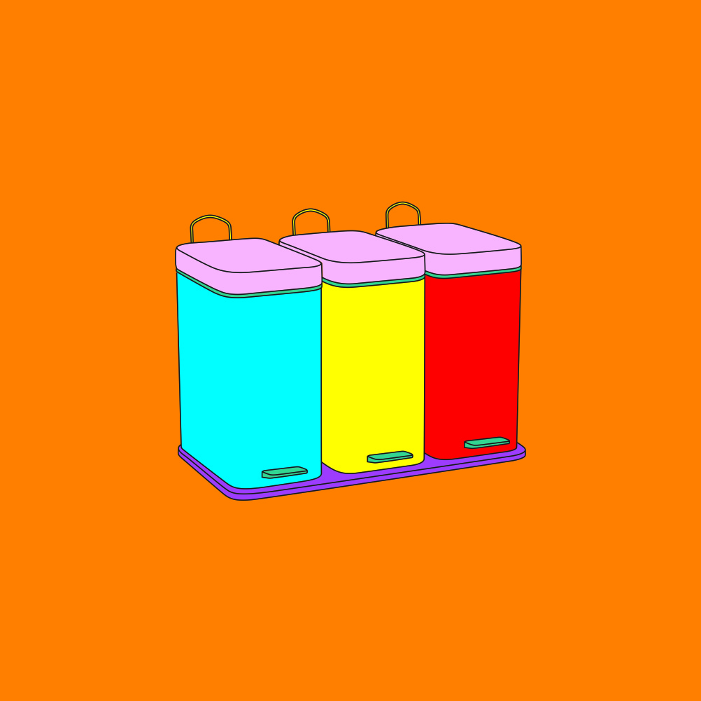 Michael Craig-Martin, Objects of our Time - Recycling Bins, 2014